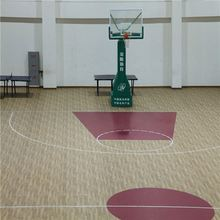 Long lifetime non-slip basketball court pvc floor mat with CE/ISO