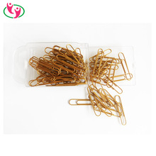 High Quality Echo Friendly PET coated 50mm Paper clips in Gold color
