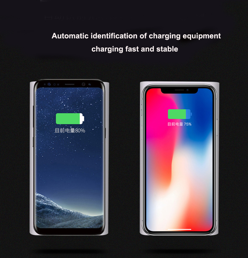 New technology 10000mah battery capacity wireless mobile cell phone charger can charged each other