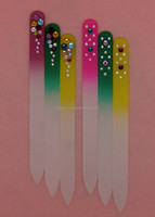 Colourful Finger Crystal Glass Nail File
