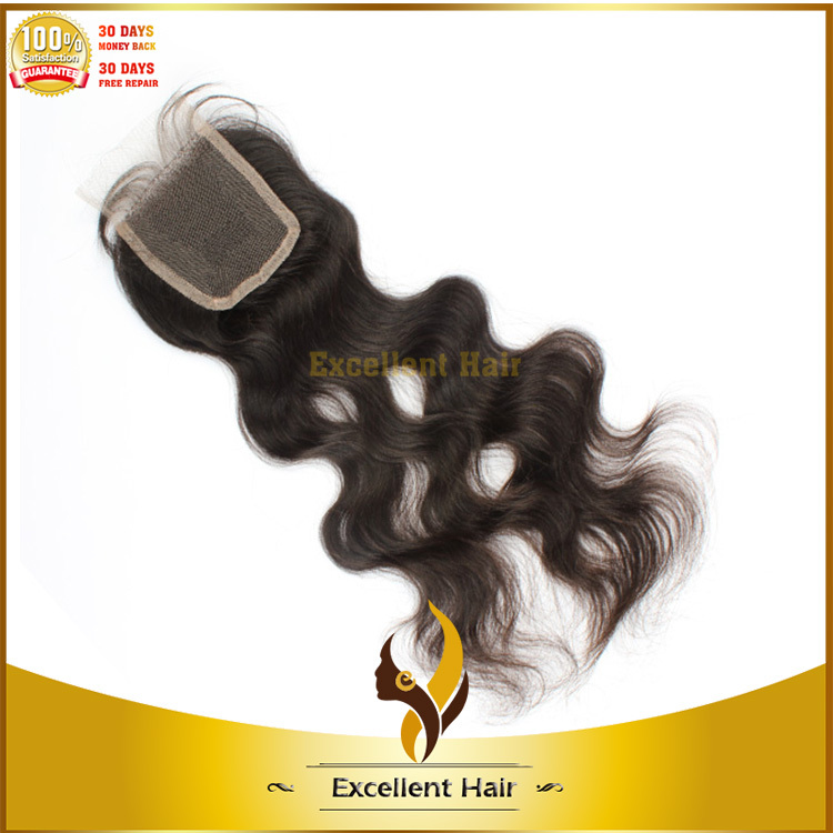 Glossy virgin human hair Swiss lace topper