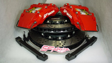 big 6 pot brake caliper with 355mm brake rotor brake kit