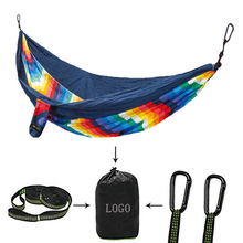 Nylon Portable Camping Hammock With Tree Straps Outdoor