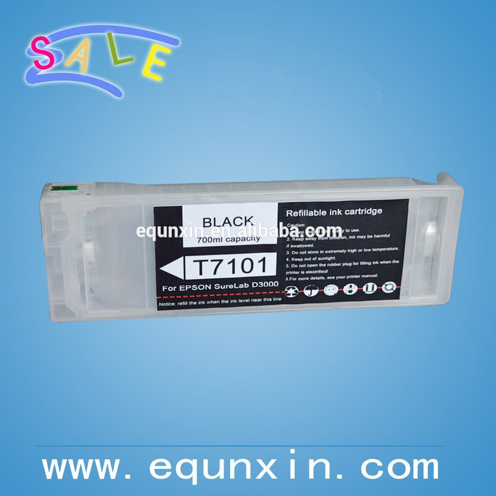SL-D3000 refillable cartrdiges for epson surelab D3000 ink cartridges T7101-T7106
