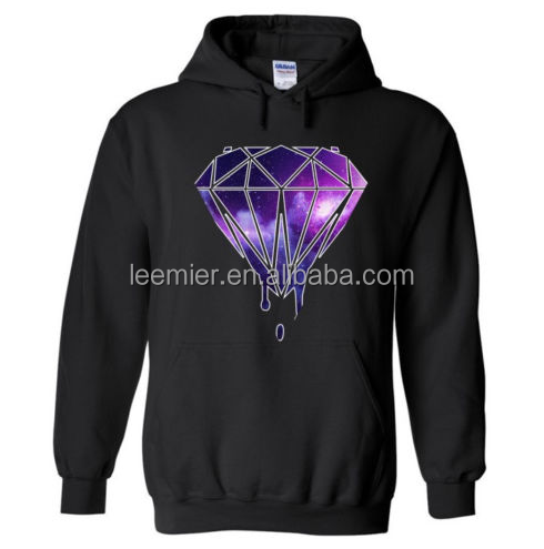 Galaxy design mens custom heavy weight cotton polyester hoodie