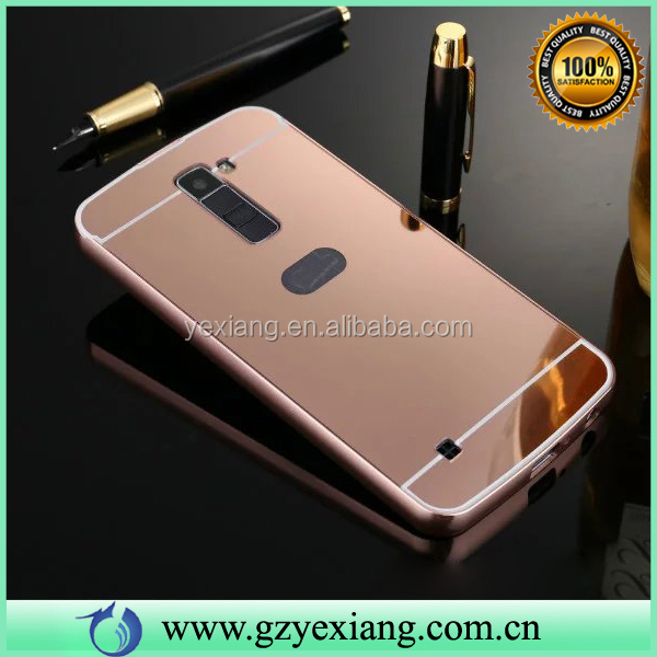 High Quality Aluminum Mirror Back Cover Case For LG G Pro D680 Bumper Case
