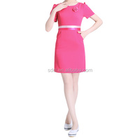 High quality cosmetic uniform salon spa uniform fashionable design beautician uniform on sale
