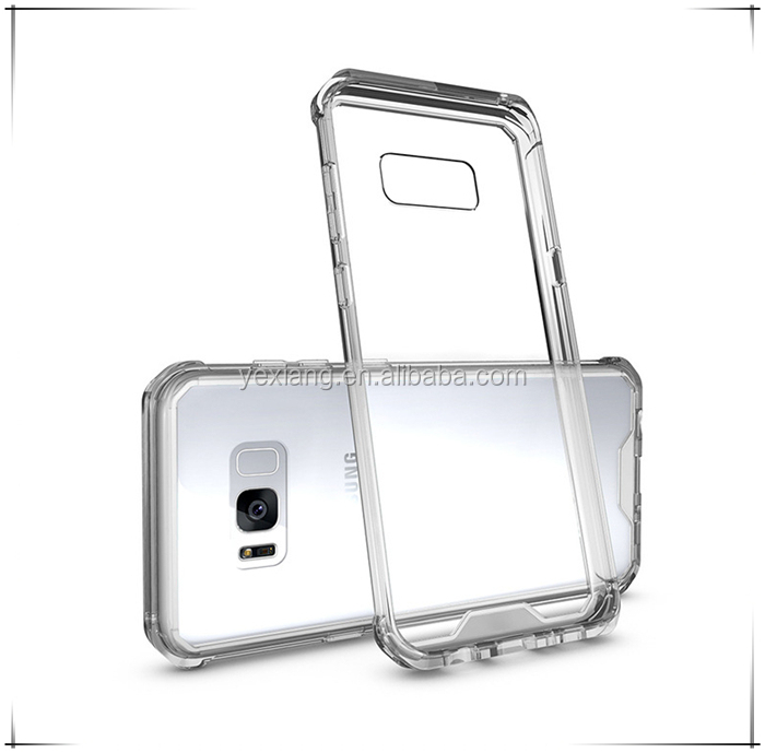 Hot sell tpu pc clear acrylic armor phone case for samsung s8 bulk buy from China