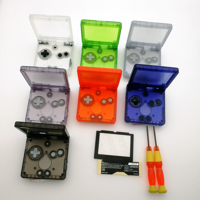 Hot sale Transparent Clear Blue purple white orange black green Glacier For Nintendo GameBoy Advance SP Housing Shell New 2019