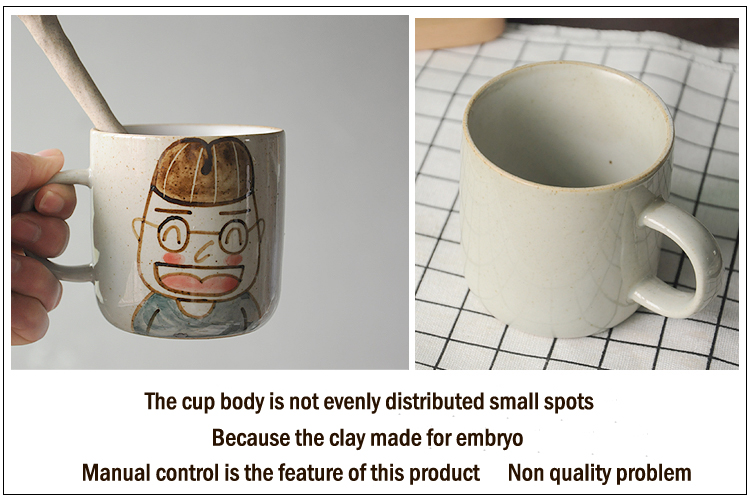 Single sided hand-drawn ceramic Jingdezhen wholesale unique with spoon and lid mug