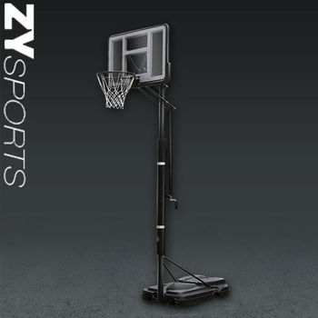 ZY 44'' pvc backboard basketball stand