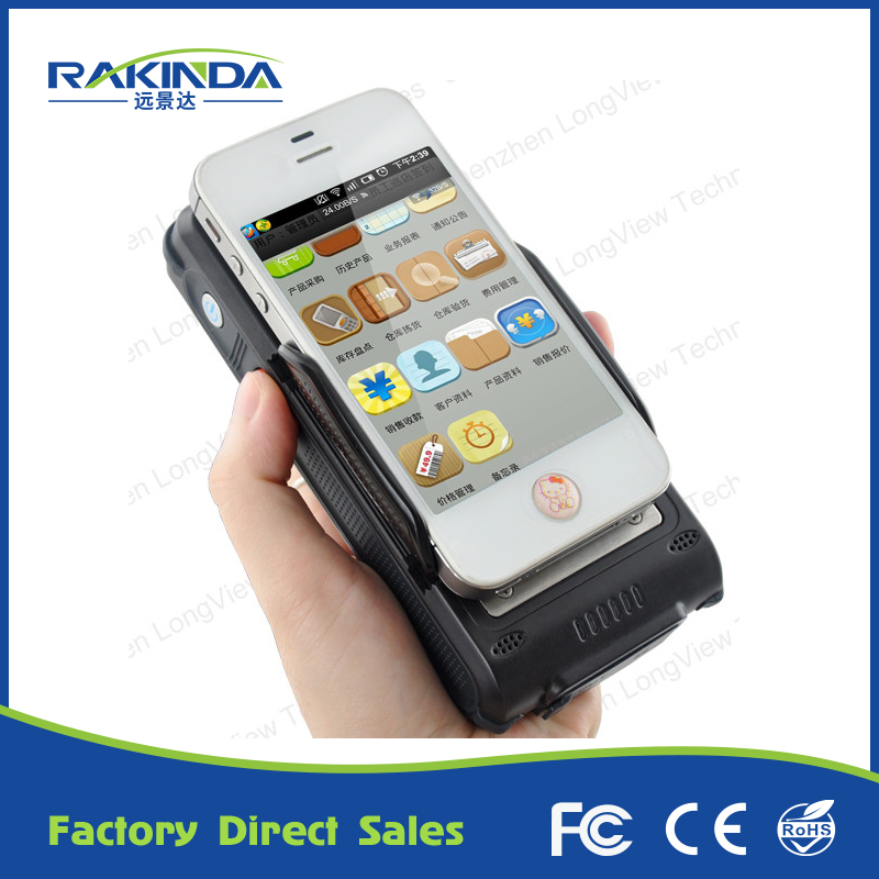 NEW Products Portable 1D 2D HF Android RFID Barcode Card Reader Bluetooth Clip