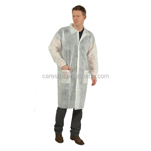 Nonwoven working suit/ disposable chemical resistant lab coats with knitted cuff\nonwoven surgical gown