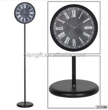 "Fashion Floor Standing Clock creative business gift/12"" quartz long metal grandfather clock/floor -standing clock"