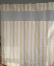 elegant lace color changing stripe/ colorful srtipe shower curtain S53
