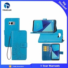Competitive Price PU Leather Flip Wallet Case for Samsung Galaxy S8 Plus