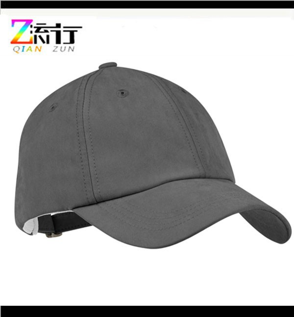 custom high quality blank baseball cap leather strap back adjuster