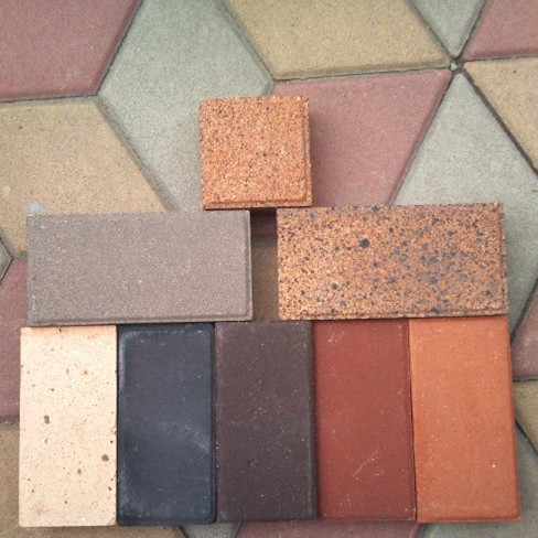 7# red good acid resistance paving bricks for pedestrian path