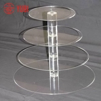Designer antique clear acrylic round cupcake stand