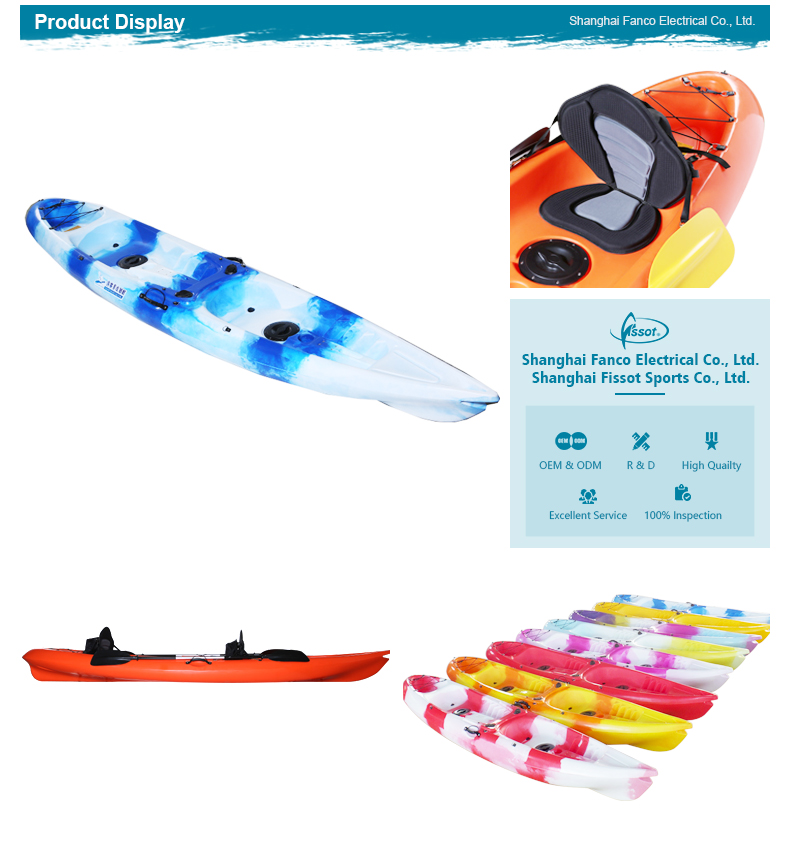 Wholesale 3.9 meters watercraft made in native china kayak