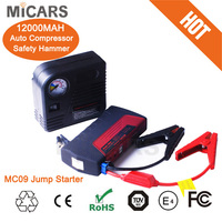 2015 portable car emergency tool kit with multi function car jump starter/air compressor