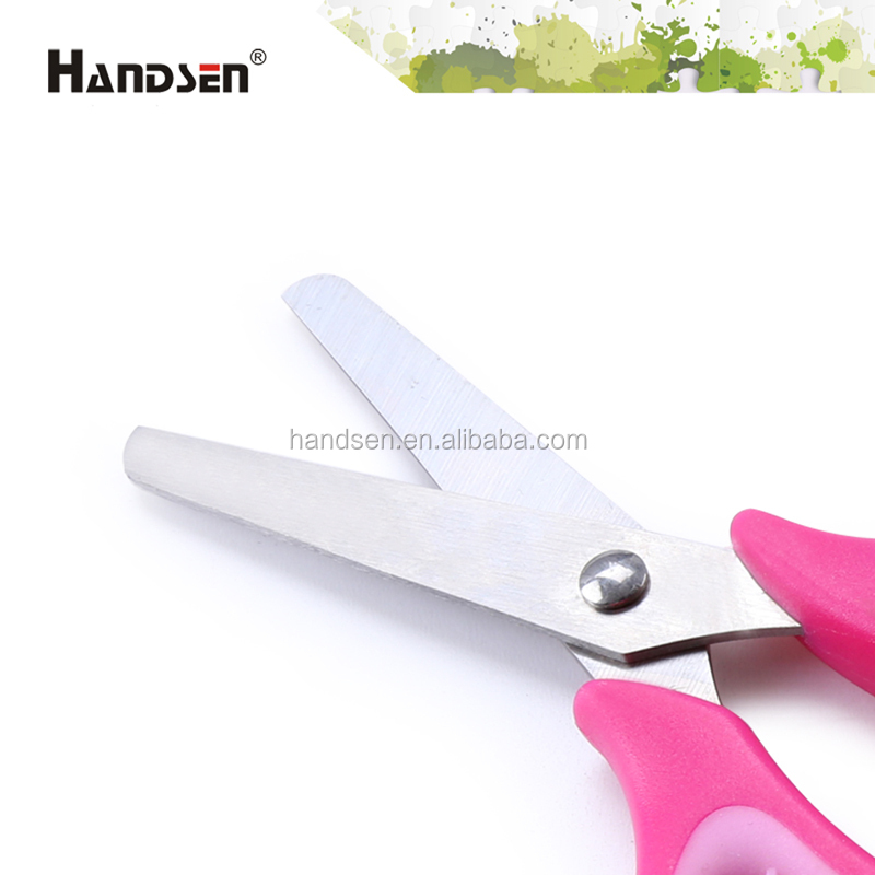 "New 5-1/4"" rubber ring hanlde non-slip scissors"