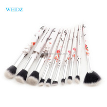 WEIDZ Hot Ink Painting Makeup Brush Set 10pcs White Soft Nylon Hair Brush