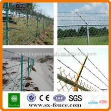 2016 galvanized chain link fence top barbed wire