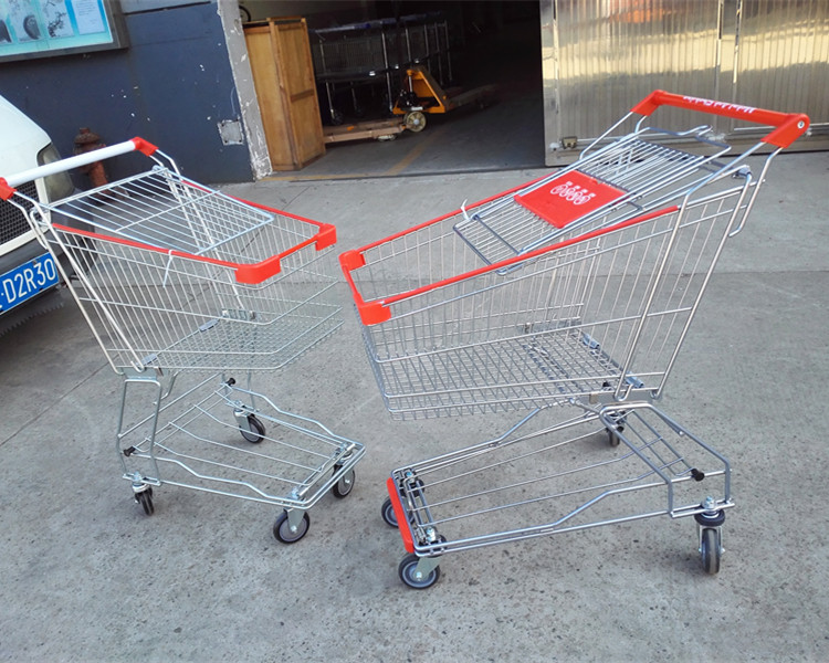 80L nested cheap supermarket shopping trolley
