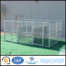 3 runs welded wire mesh heavy duty dog house with roof
