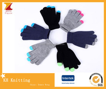 High quality knitting touch screen gloves