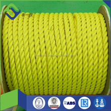 polypropylene rope 3 strand twisted pp rope for sea farming