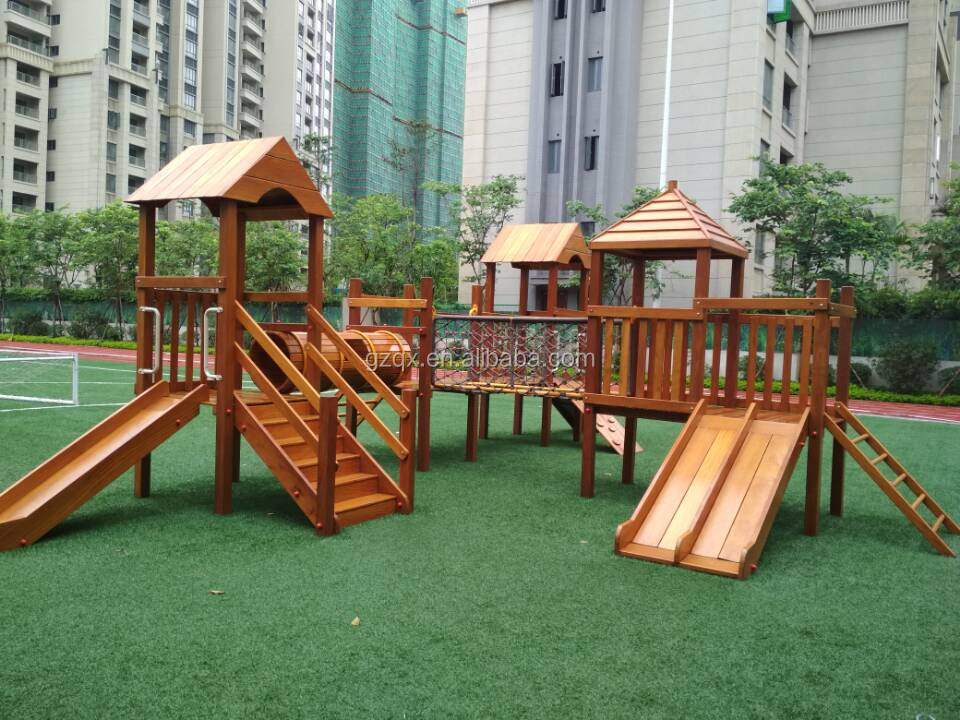 Fantastic high quality giant wooden kids slides for sale