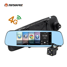 "4G/3G Car DVR Mirror 7"" Android 5.1 GPS Dash cam Video Recorder Rear view mirror with DVR and Camera Registrar 16GB"