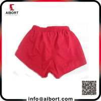 Wholesale plain dyed red blank girl's shorts