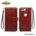 Flip brown wallet cover for huawei P10 Plus leather case