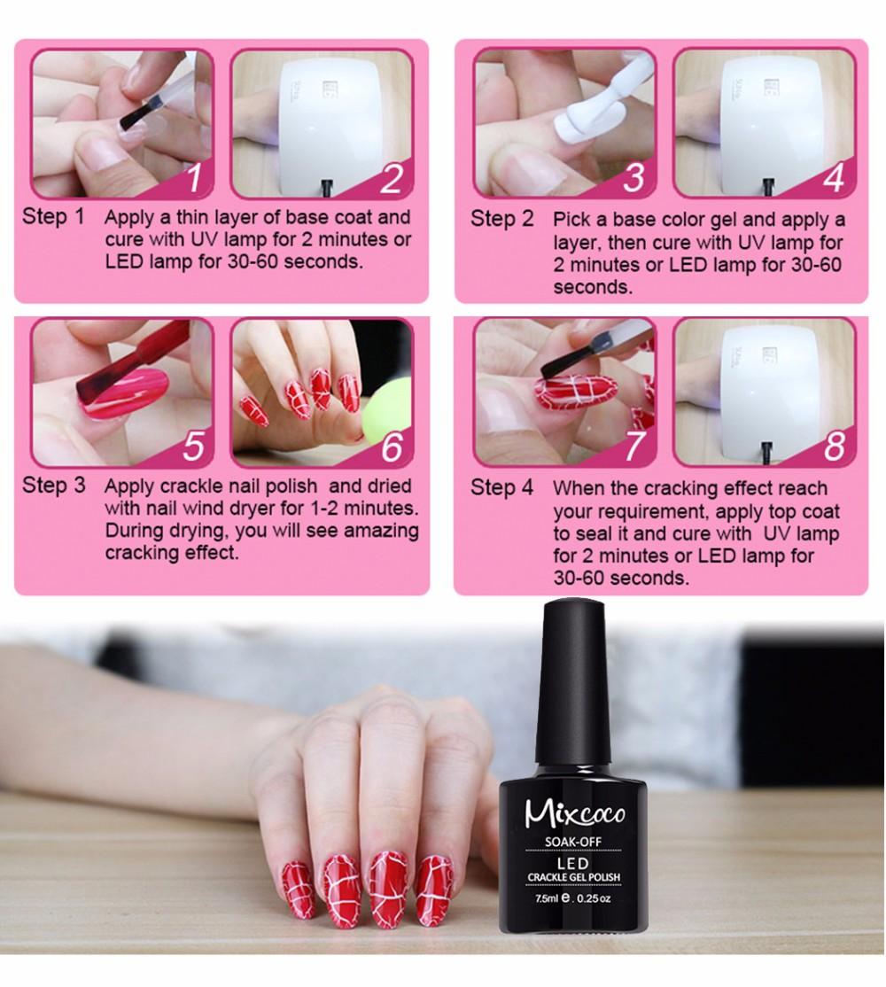 uv nail polish kit nail art polish machine crackle gel polish, View ...