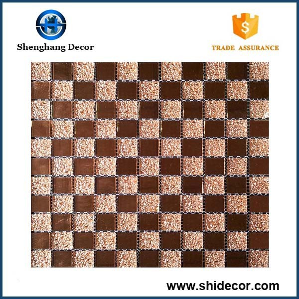 Stainless Steel Mix Glass Mosaic Tile For sales