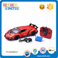 1:14 High speed best plastic rc car body toy with light and music and charger