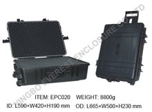Hard Plastic Handle and Wheeled Case/Box