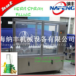 Full-automatic herb spray filling capping equipment for medicine