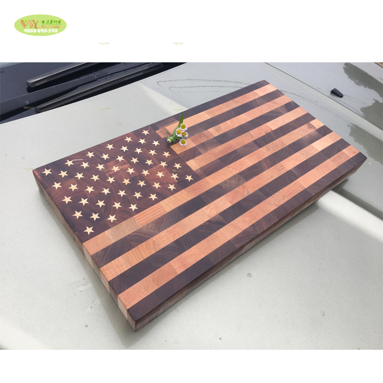 American Flag Cutting Board wood / home furniture solid wood usa flag chopping board end <strong>grain</strong> with stars and stripes