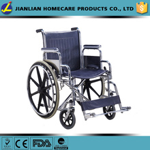 medical steel wheelchair,mag rear wheel with solid tyre wheelchair
