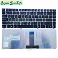 Hot Sale Silver with silver frame Laptop Keyboard for ASUS UL20 RU language Keyboard 0KN0-G62RU0210403001472