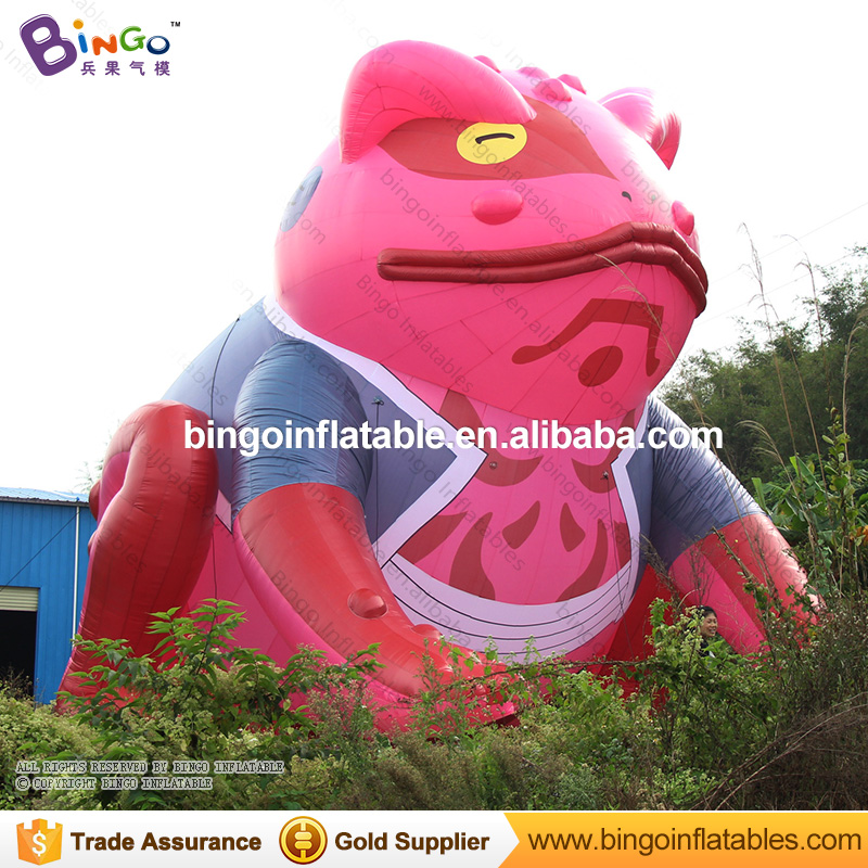 33ft.giant inflatable frog Prince cartoon model for square advertising