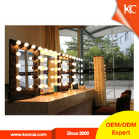Exquisite lighting portable beauty salon station furniture mirror