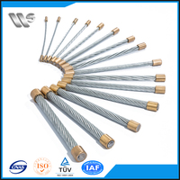 1.2mm armoured fiber optic cable steel wire
