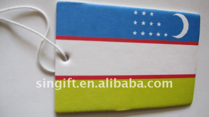 National flag paper air freshener
