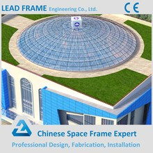 Prefabricated Long Span Steel Space Frame Structure Roof Skylight for Dome