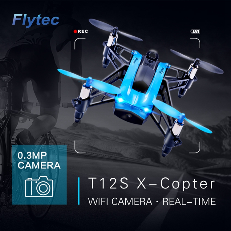 Flytec X-Copter 4CH 6-Axis FPV WIFI Headless Mode Racing Quadcopter T12S Drone VS parrot mambo
